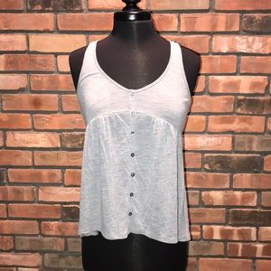 🧡🍁Gray Button Up Front American Eagle Tank BOGO